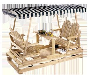 Meubles de jardin tables chaises et balan oires for Balancoire de jardin en bois